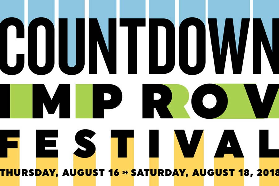 Countdown Improv Festival 2018 - Posters, Swag, Signs, T-Shirt