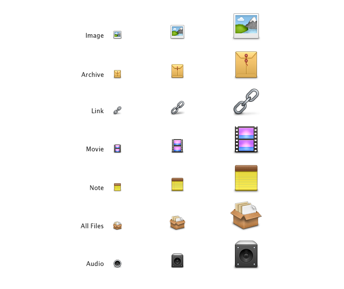 Upload Type Icons