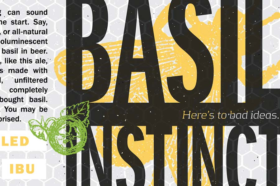 Basil Instinct - Home Brew Beer Label