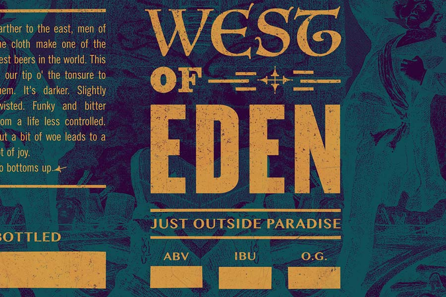 West Of Eden - Home Brew Beer Label